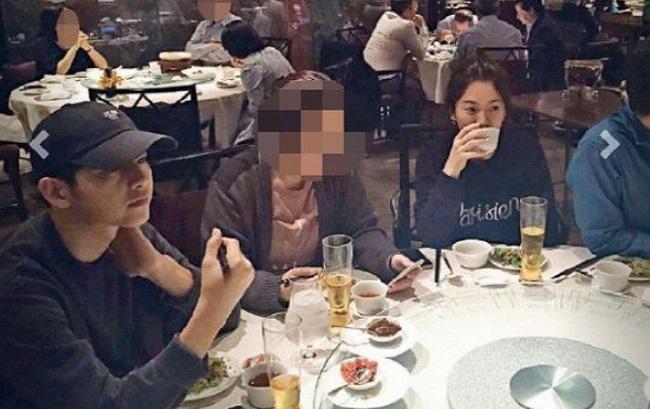 Hình ảnh 2 người ngồi cùng nhau tại bàn tiệc tại một nhà hàng thuộc khách sạn hạng sang Four Seasons đã bị rò rỉ, làm dấy lên tin đồn hẹn hò - Ảnh: Internet