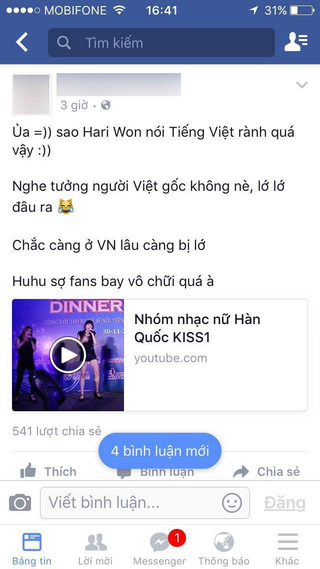 Hari Won đăng clip nói lớ quá đà, bị ném đá thậm tệ - Ảnh 2
