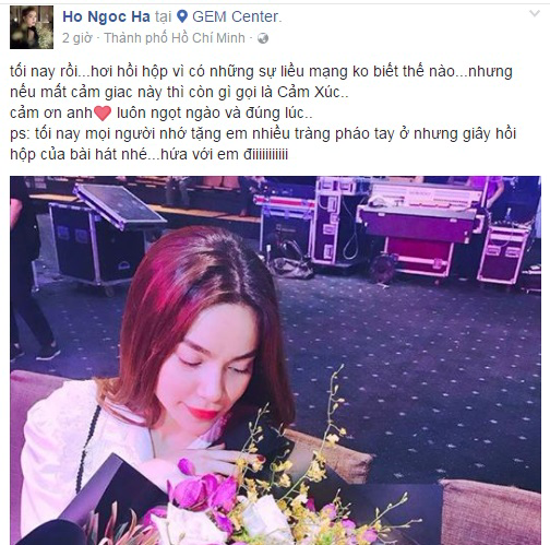 Hồ Ngọc Hà tiếp tục khoe hoa được Kim Lý tặng: 'Cảm ơn anh, luôn ngọt ngào và đúng lúc' - Ảnh 1