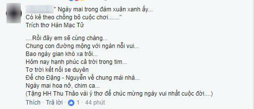 Hoa hậu Đặng Thu Thảo khiến đấng mày râu 'khóc ròng' vì bài thơ ngọt ngào dành cho hôn phu trước ngày cưới - Ảnh 2