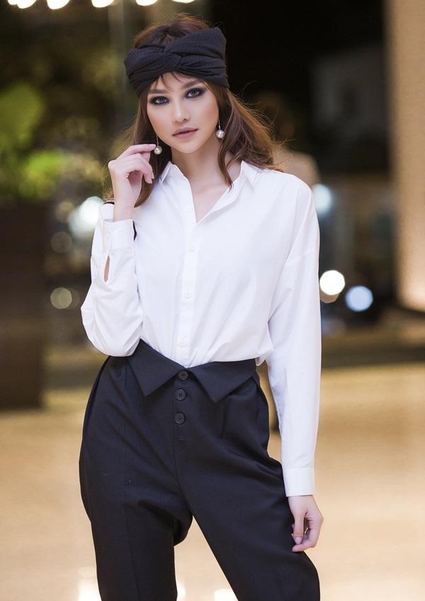 Hoa hậu Kiều Ngân tự tin khoe nhan sắc 'dao kéo' đẹp hút hồn - Ảnh 8