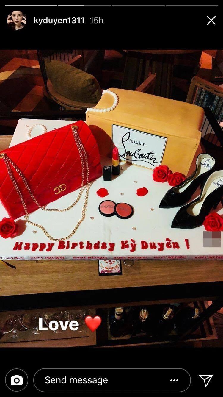 Hoa hậu Kỳ Duyên khiến nhiều người phát sốt với chiếc bánh sinh nhật dát đầy hàng hiệu - Ảnh 7