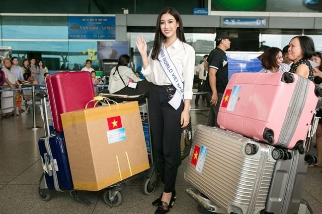 Tham gia Miss World 2017, Đỗ Mỹ Linh 'gồng gánh' 200 kg hành lý khiến ai nhìn cũng choáng - Ảnh 2