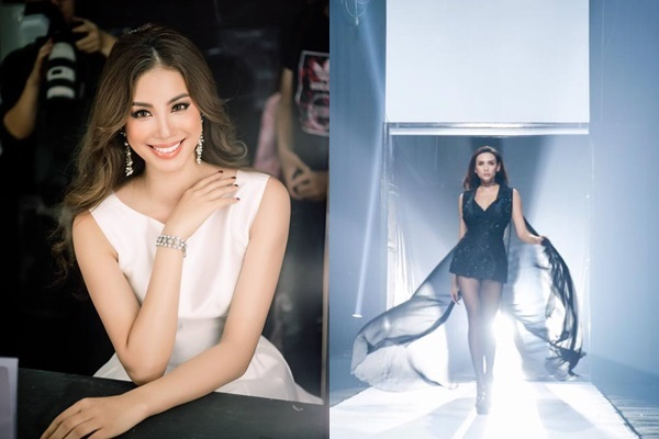 Võ Hoàng Yến và Phạm Hương cùng xuất hiện tại Hoa hậu Hoàn Vũ 2017