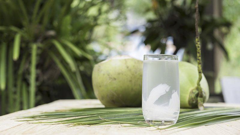 Dưới cái nắng nóng của những ngày lễ Tết, trên con đường rong chơi, hãy dừng chân và thưởng thức ly nước dừa mát lạnh
