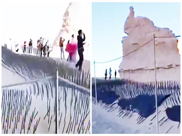 Trung Quốc: Lắp chông sắt ở công viên để ngăn khách du lịch phá hoại cảnh đẹp - Ảnh 1