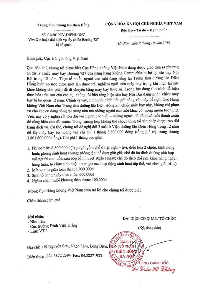 Trung tâm dưỡng lão ở Hà Nội 'đánh liều' viết thư xin máy bay Boeing: Câu chuyện xúc động đầy chất thơ!  - Ảnh 2
