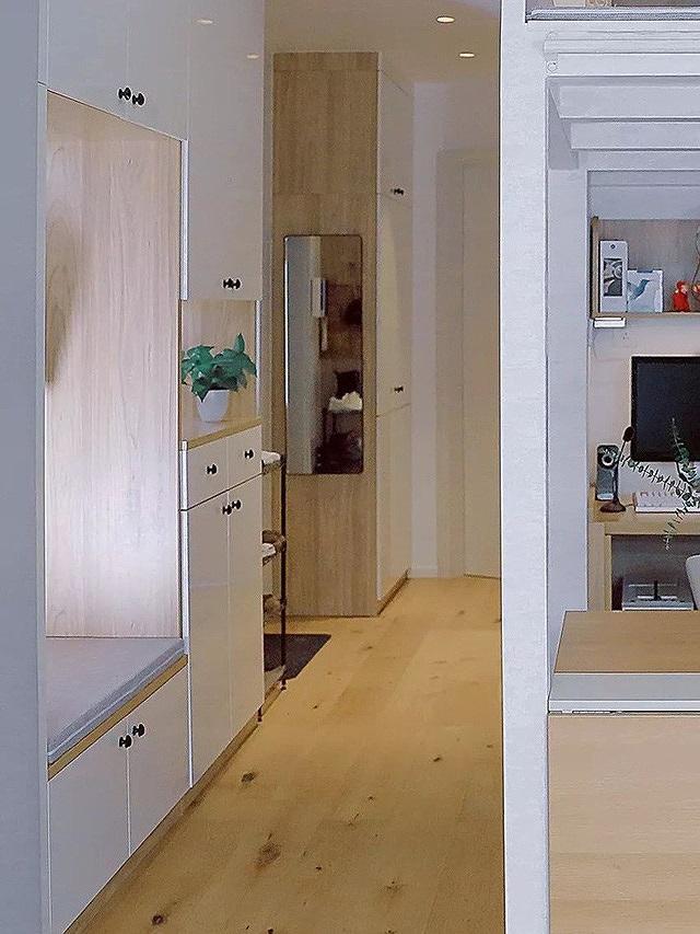 Căn hộ 40m2 rộng thoáng,đẹp long lanh đến bất ngờ nhờ nội thất trắng - Ảnh 2