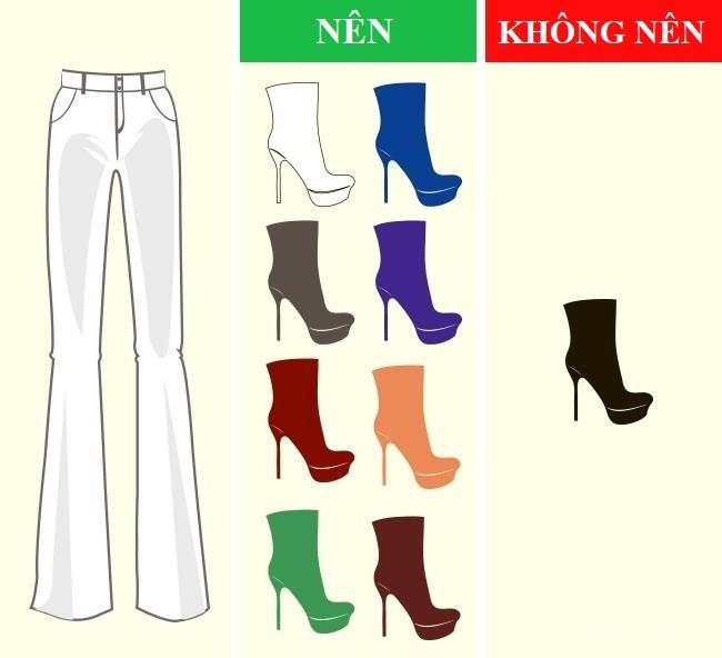 Cách kết hợp màu sắc quần với giày dép hoàn hảo - Ảnh 1