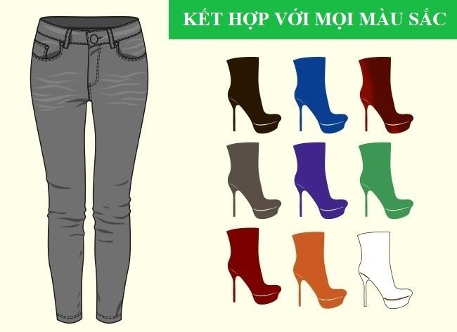 Cách kết hợp màu sắc quần với giày dép hoàn hảo - Ảnh 2