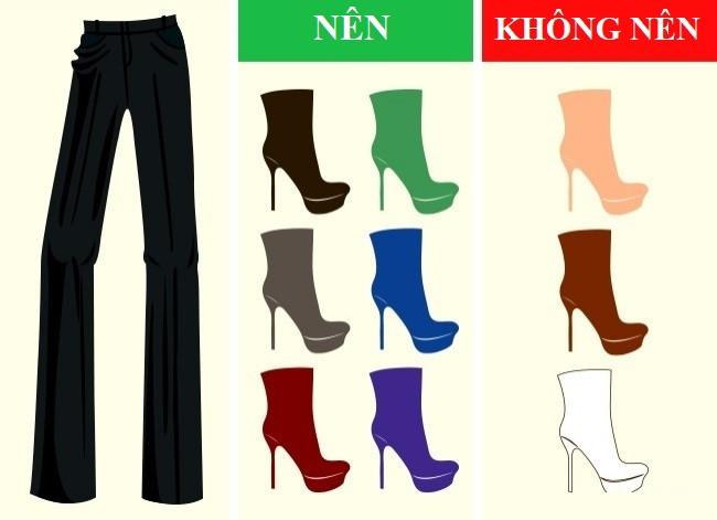 Cách kết hợp màu sắc quần với giày dép hoàn hảo - Ảnh 3