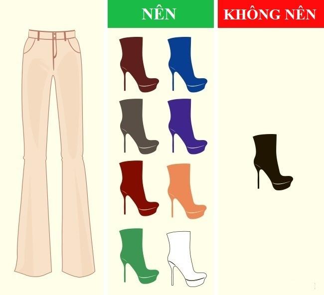Cách kết hợp màu sắc quần với giày dép hoàn hảo - Ảnh 4