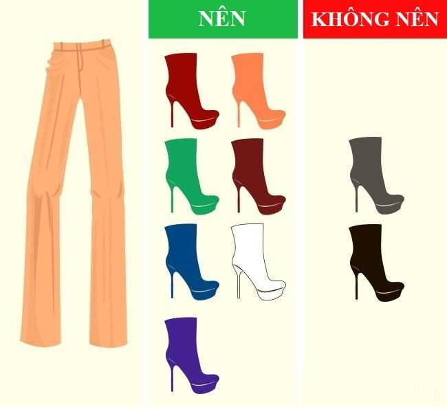 Cách kết hợp màu sắc quần với giày dép hoàn hảo - Ảnh 5