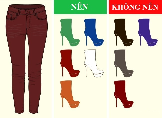 Cách kết hợp màu sắc quần với giày dép hoàn hảo - Ảnh 6