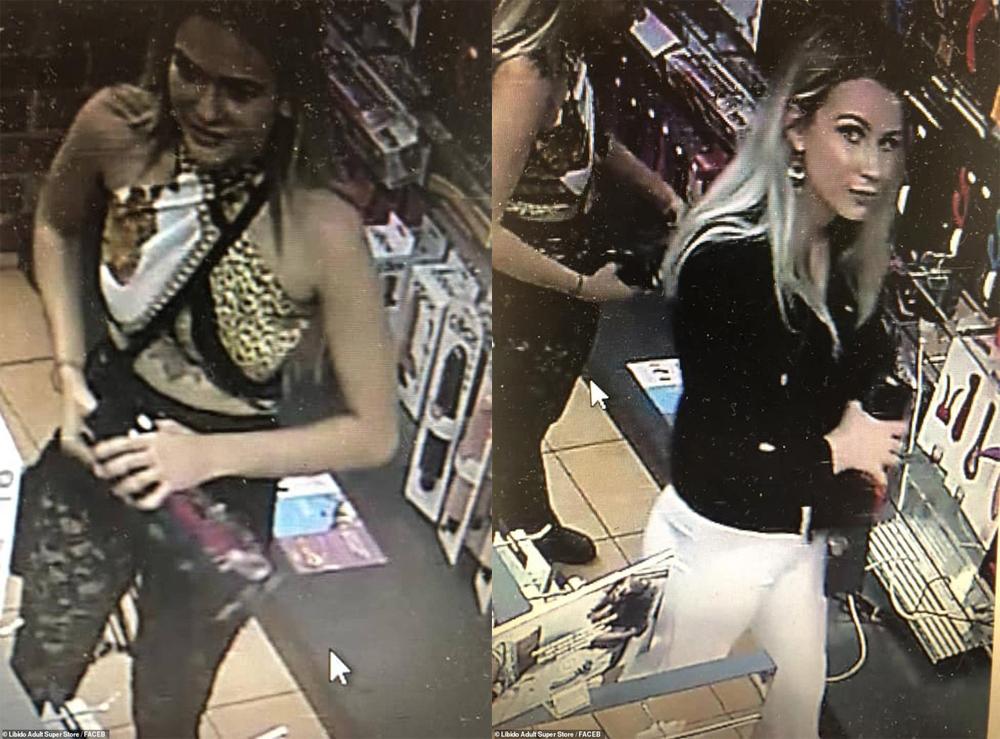 Hai cô gái lấy trộm cắp đang bị cảnh sát truy nã.