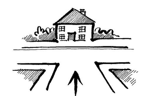 Tránh mua nhà có đường chính đâm thẳng vào nhà.