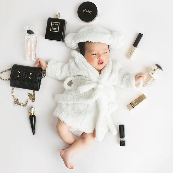 Con gái đầu lòng 3 tháng tuổi đáng yêu của người mẫu Diệp Lâm Anh.