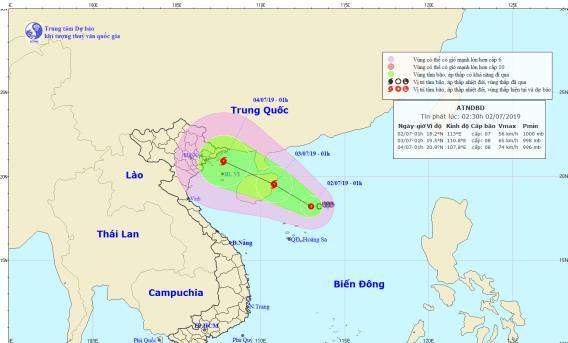 Áp thấp nhiệt đới khả năng mạnh lên thành bão giật cấp 11 đang hướng vào vịnh Bắc Bộ - Ảnh 1