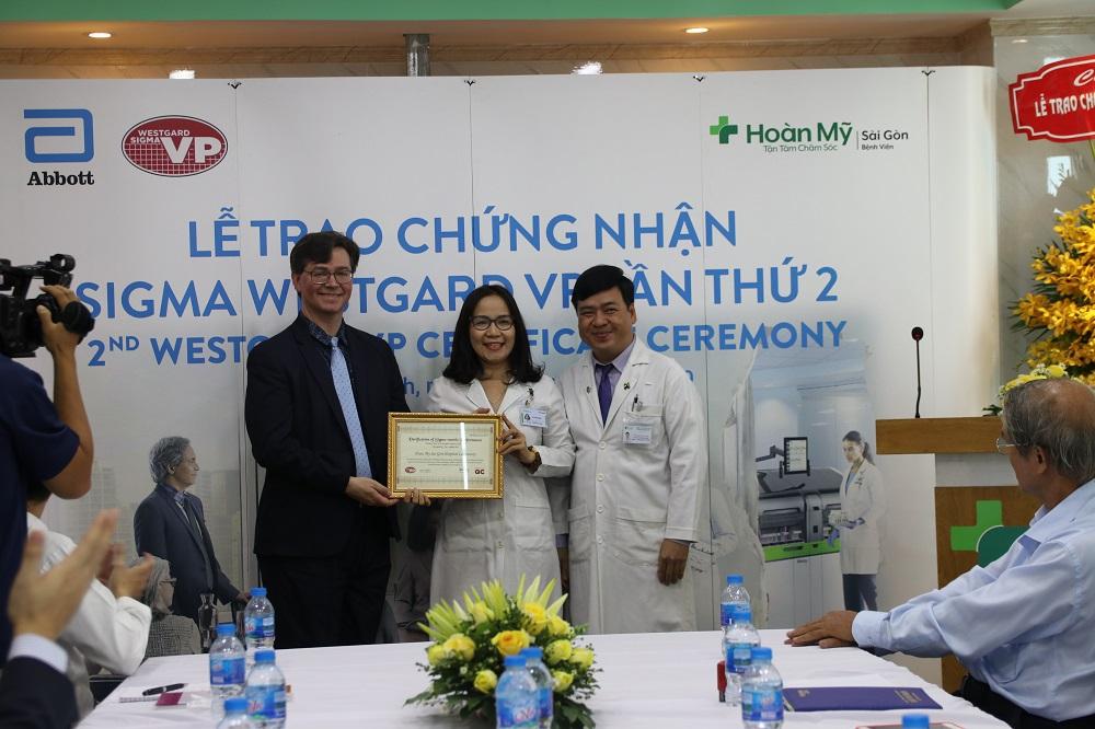 Bệnh viện Hoàn Mỹ Sài Gòn nhận chứng chỉ Six Sigma lần thứ 2 về xét nghiệm - Ảnh 1