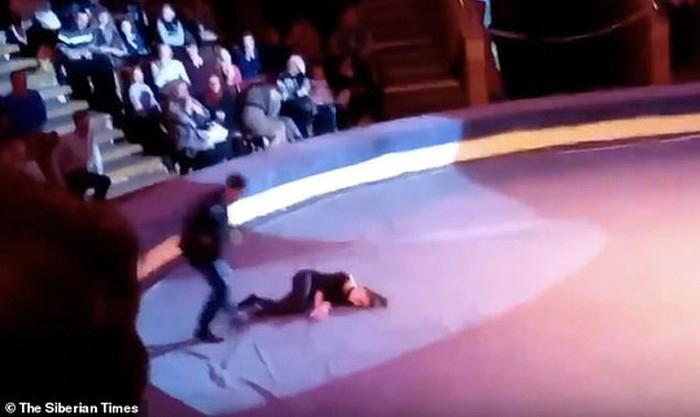 Thót tim khoảnh khắc nữ nghệ sĩ xiếc rơi từ độ cao 5m khi đang biểu diễn - Ảnh 2