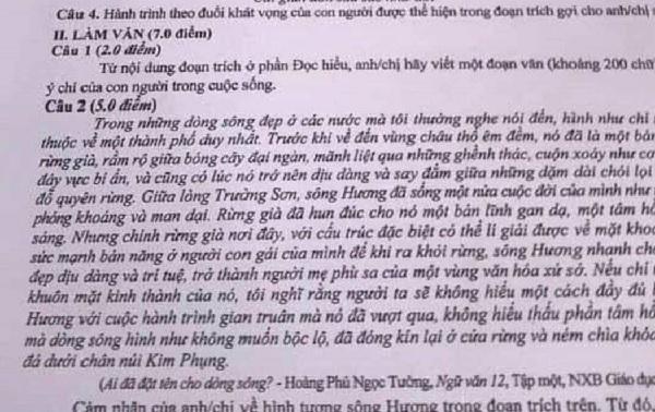 Đình chỉ thí sinh và giám thị ở Phú Thọ để 'lọt' đề thi văn lên MXH - Ảnh 1
