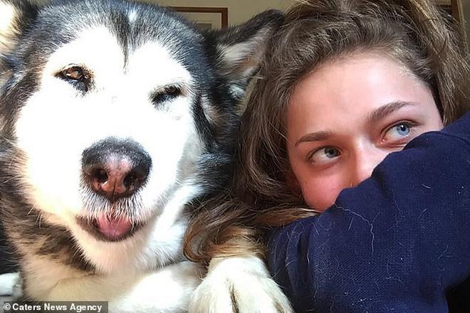 Bethany và chú chó cưng Mika