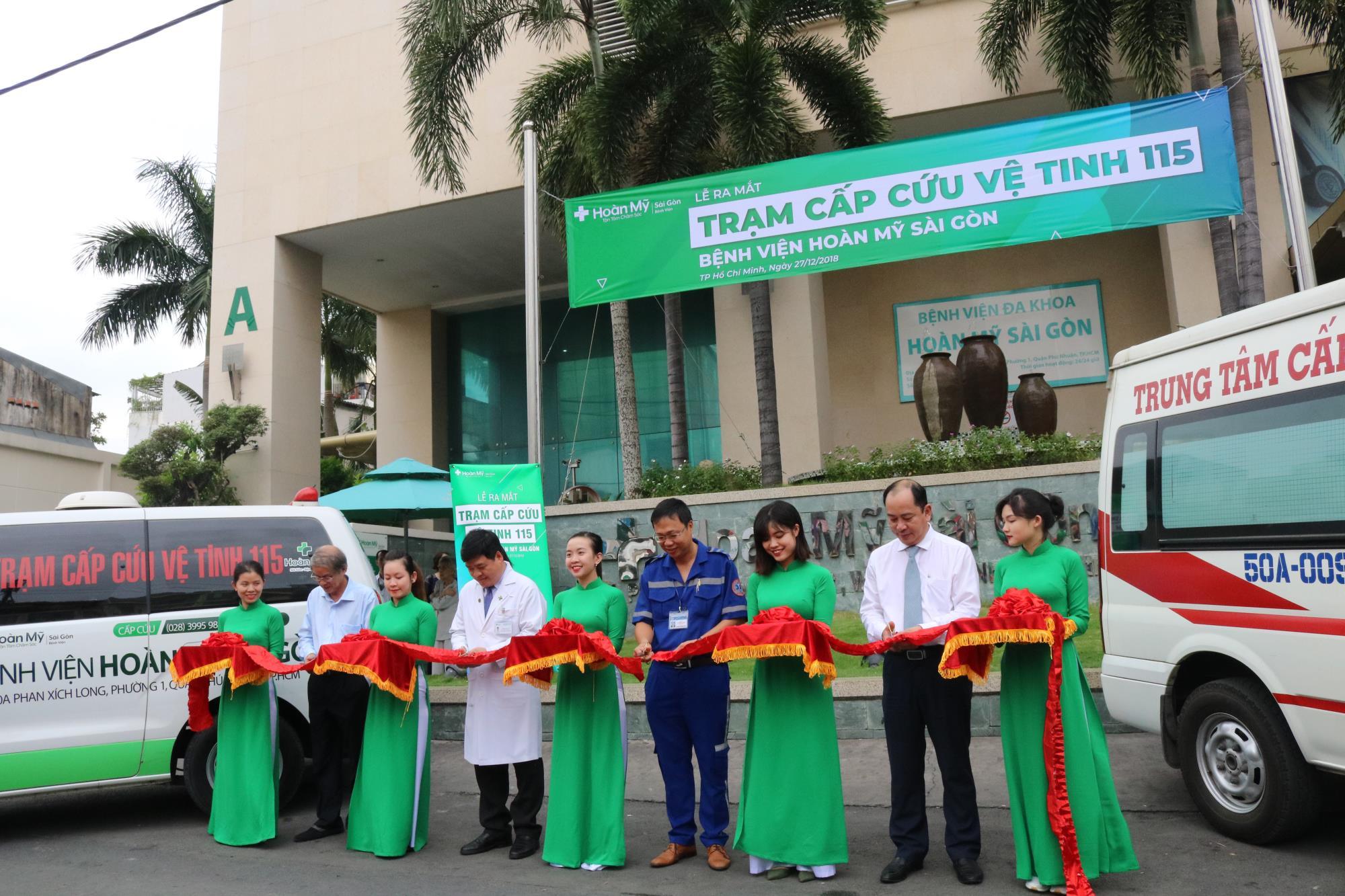 Bệnh viện Hoàn Mỹ Sài Gòn ra mắt trạm cấp cứu vệ tinh 115