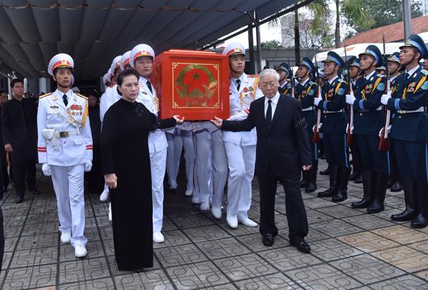 Lễ truy điệu và di quan Chủ tịch nước Trần Đại Quang - Ảnh 6