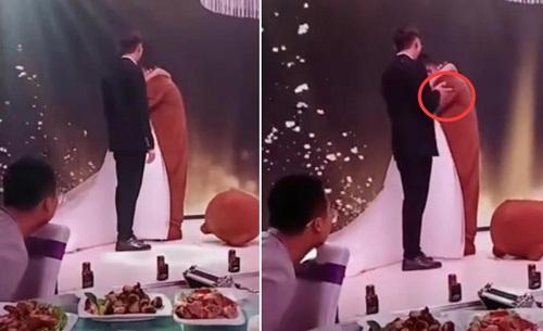 Đang cử hành hôn lễ, bạn trai cũ lên ôm chặt cô dâu khiến chú rể đứng hình - Ảnh 2