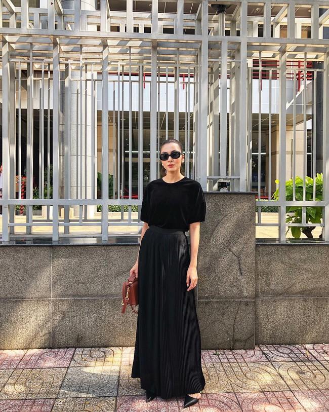 Sao Việt nổi bật với street style cuối năm: Mai Phương Thúy khoe chân dài với mốt giấu quần, Hà Tăng đẳng cấp khi diện maxi - Ảnh 3