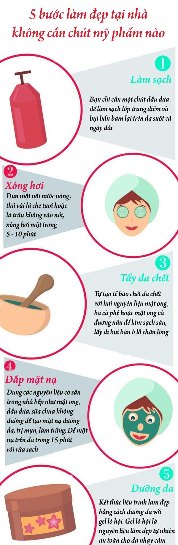5 bước làm đẹp tại nhà không cần đến mỹ phẩm da vẫn căng mịn - Ảnh 1