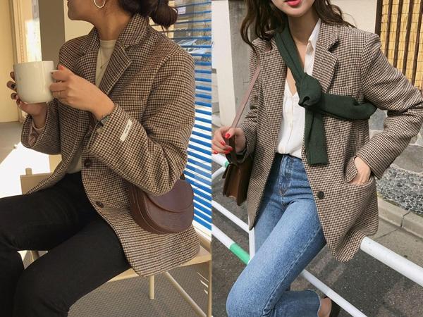 Một chiếc áo blazer với họa tiết răng sói cùng gam màu nâu chủ đạo chắn chắn sẽ mang đến cho bạn một vẻ ngoài vô cùng chín chắn, thanh lịch và có gì đó rất ấm áp