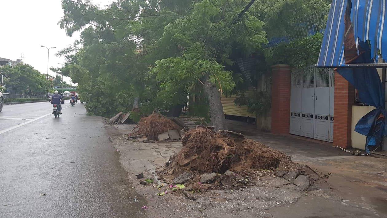 Những hình ảnh hoang tàn tại miền Bắc nơi bão số 2 quét qua  - Ảnh 5