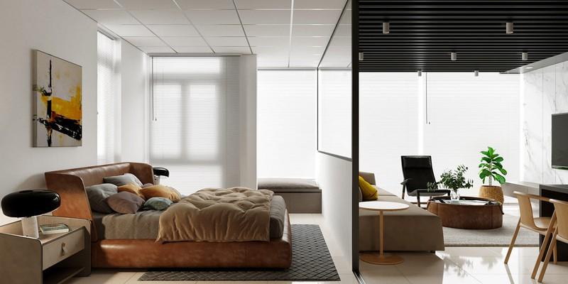 Nhà 2 phòng ngủ rộng rãi nhờ chọn giải pháp cửa trượt - Ảnh 6