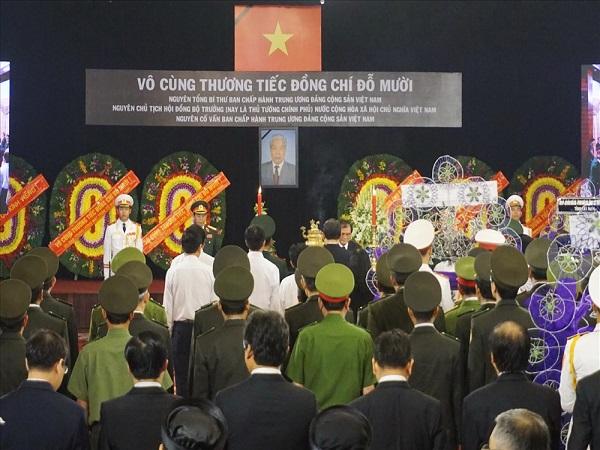 TPHCM: Tổ chức trang trọng lễ viếng nguyên Tổng Bí thư Đỗ Mười - Ảnh 2
