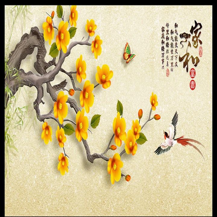 Tranh vẽ hoa mai trang trí ngày Tết đẹp