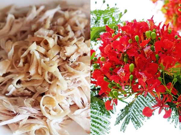 Học cách làm gỏi gà hoa phượng lạ miệng, thơm ngon thiết đãi cả gia đình  - Ảnh 2