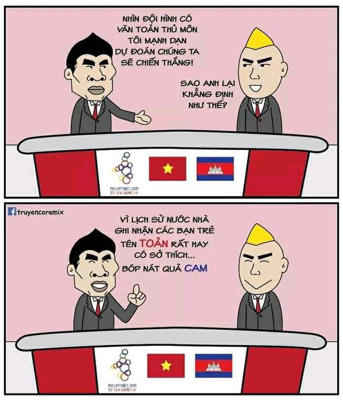 'Chết cười' với loạt ảnh chế sau trận Việt Nam - Campuchia: Thầy Park 'chóng mặt', Đức Chinh khiến thủ môn đội bạn 'giận tím người' - Ảnh 10
