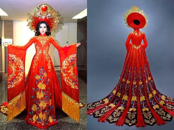 Sau ồn ào 'ăn - thua' tại Hoa hậu Hòa bình Thế giới 2017, Á Hậu Huyền My bị tố ăn cắp thiết kế trang phục dân tộc - Ảnh 5