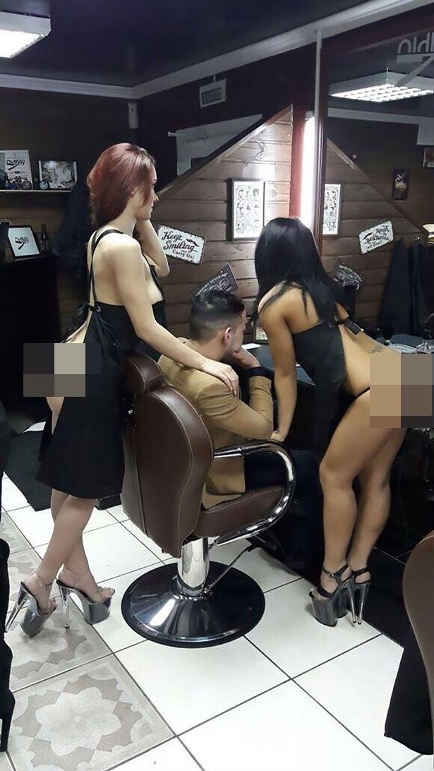 Bức ảnh thợ cắt tóc nữ khỏa thân phục vụ khách gây bão cộng đồng mạng - Ảnh 2