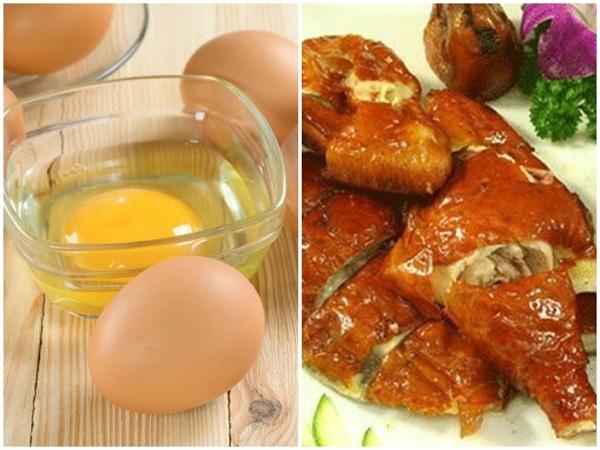 Tuyệt đối cấm dùng trứng gà chung với thịt thỏ. Ảnh minh họa