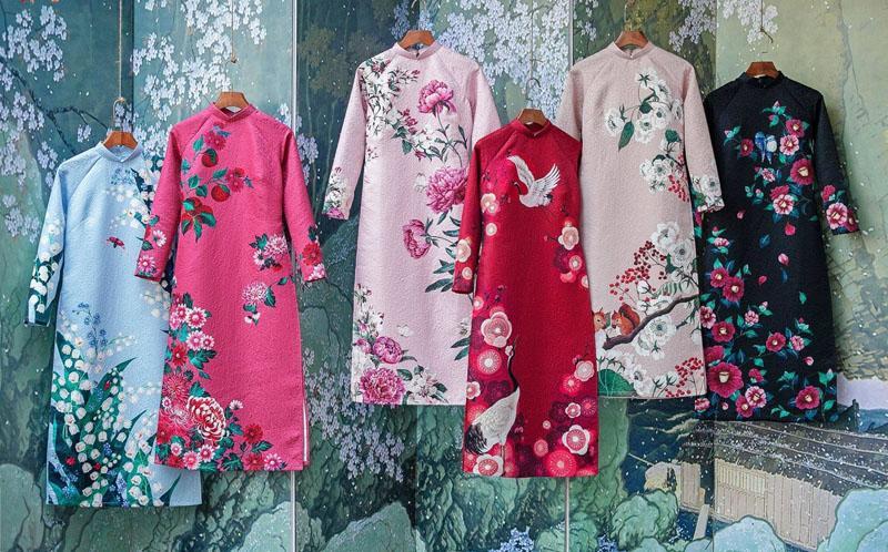Những mẫu áo dài cách tân cho tuổi trung niên đẹp nền nã và sang trọng - Ảnh 6