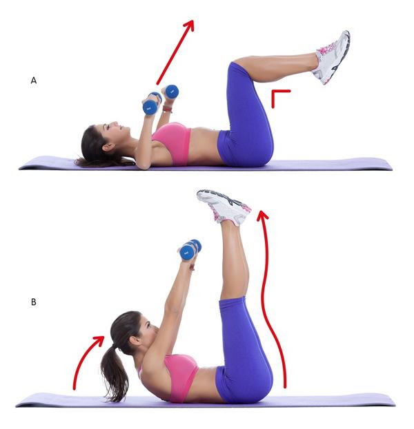 10 động tác giúp triệt tiêu mỡ thừa vùng lưng và hai bên nách - Ảnh 3