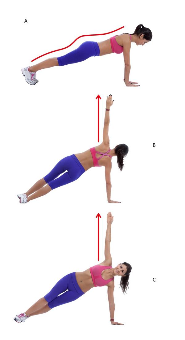 10 động tác giúp triệt tiêu mỡ thừa vùng lưng và hai bên nách - Ảnh 8
