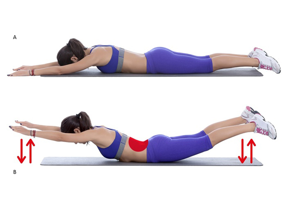 10 động tác giúp triệt tiêu mỡ thừa vùng lưng và hai bên nách - Ảnh 9