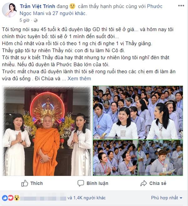 Diễn viên Việt Trinh ly hôn vì bị chồng xúc phạm - Ảnh 2