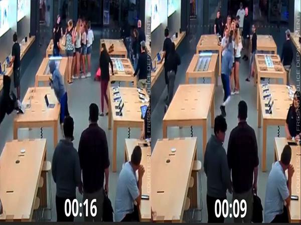 Clip nhóm thanh niên trộm cắp 8 Macbook và nhiều iPhone nhanh như cắt - Ảnh 1