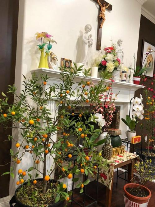 Xuân Bắc, Tự Long, Quang Dũng, Hương Tràm bày biện nhà cửa đón xuân - Ảnh 8