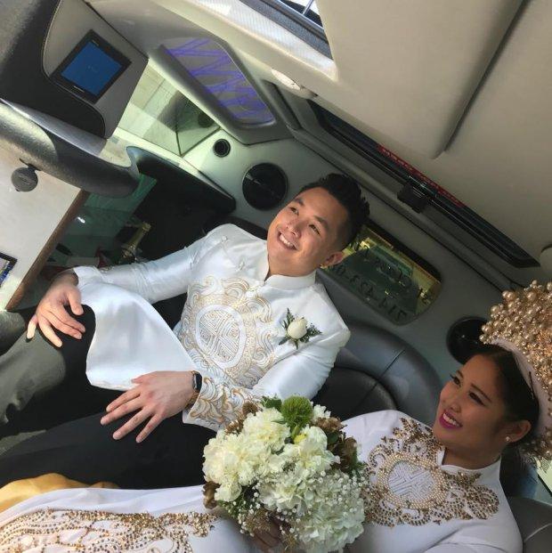 Con gái NSND Hồng Vân khoe clip ông xã nhảy cực điêu luyện trong đám cưới - Ảnh 1