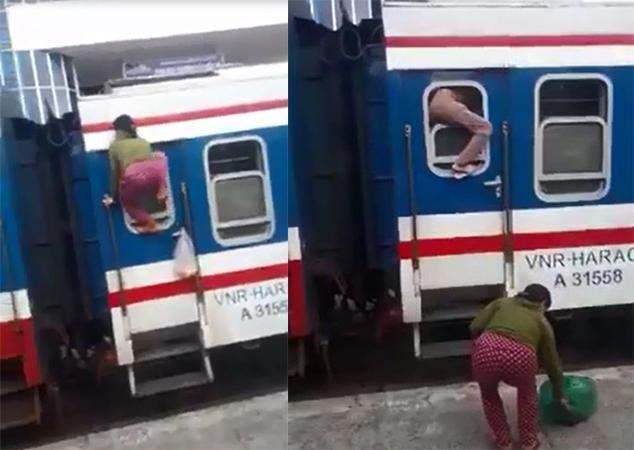 Trốn vé, hai người phụ nữ lên tàu hỏa bằng cách trèo qua cửa sổ? - Ảnh 1